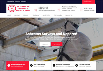 asbestos website screenshot