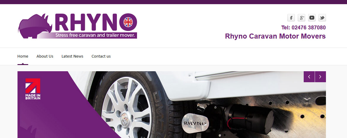 screenshot of the rhyno mover website